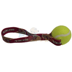 San Francisco 49ers  Tennis Ball Tug Dog Toy