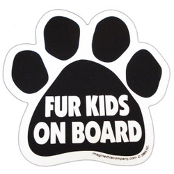 Fur Kids On Board Paw Magnet