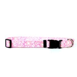 Pink Lace Flowers Break Away Cat Collar
