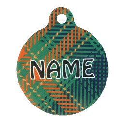 Green Kilt Plaid pet id tag