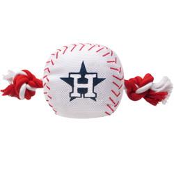 Houston Astros Nylon Rope Baseball Squeaker  Dog Toy