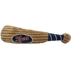 Detroit Tigers Baseball Bat Squeaker Dog Toy