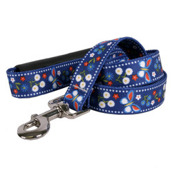 Festive Butterfly Blue EZ-Grip Dog Leash