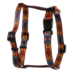 Indian Spirit Orange Roman Style H Dog Harness