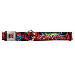Amazing Spider-Man Buckle-Down Seat Belt Buckle Dog Collar