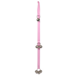Gingham Pink Ding Dog Bells Training System