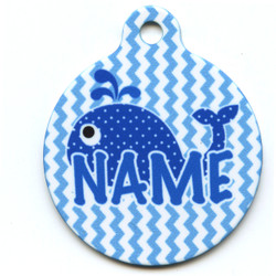 Sweet Lil Whales HD Pet ID Tag