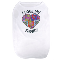 I Love My Family Hearts Pet T-Shirt
