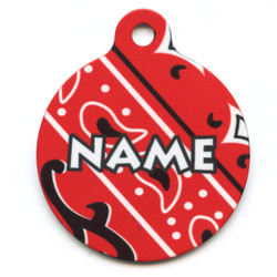 Bandana Red HD Pet ID Tag
