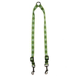 Argyle Green Coupler Dog Leash