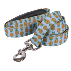 Pineapples Blue EZ-Grip Dog Leash