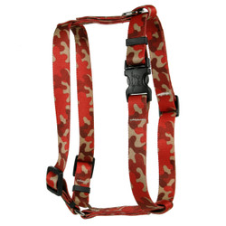Camo Red Roman Style H Dog Harness