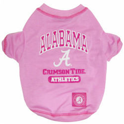 Alabama Crimson Tide Pink Tee Shirt For Dogs