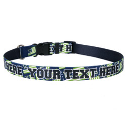 Personalized 12th Dog Flags Dog Collar