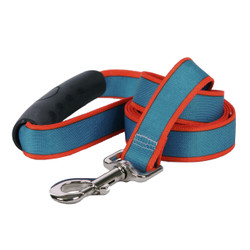 Sterling Stripes Teal and Orange Dog Leash