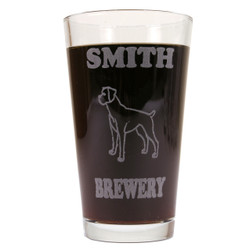 Personalized Pint Glass Beer Mug - Boxer