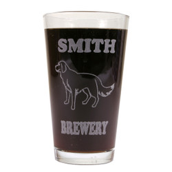 Personalized Pint Glass Beer Mug - Golden Retriever