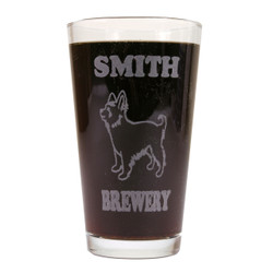 Personalized Pint Glass Beer Mug - Yorkie