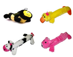 Plush Squeaker 4-Toy Value Pack