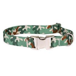 Camo Premium Metal Buckle Dog Collar