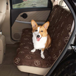 Double Seat Pawprint Car Seat Cover