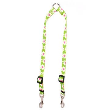 Green Daisy Coupler Dog Leash