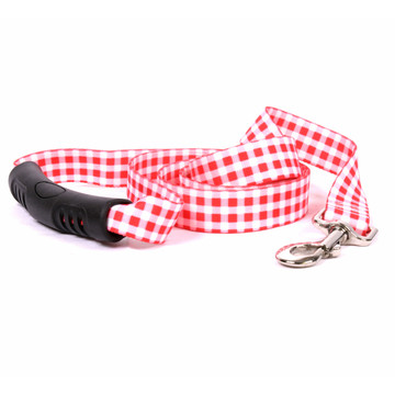 Gingham Red EZ-Grip Dog Leash