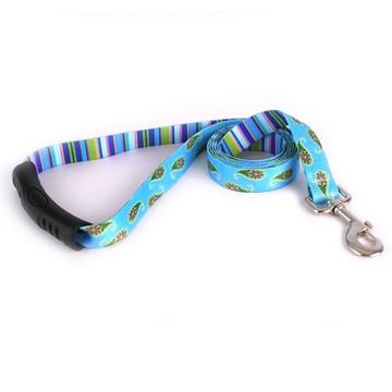 Blue Paisley EZ-Grip Dog Leash