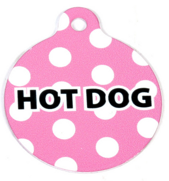 Pink Polka Dot HD Pet ID Tag