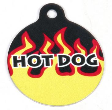 Red Flames HD Pet ID Tag