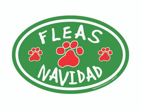 Fleas Navidad Oval Magnet