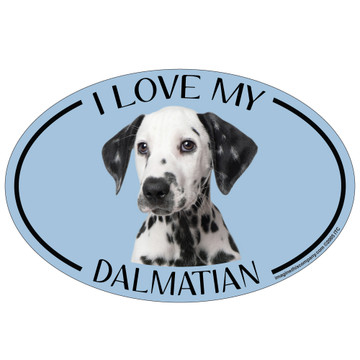 I Love My Dalmation Colorful Oval Magnet