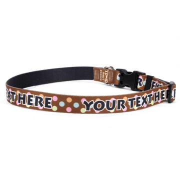 Personalized Neopolitan Polka Dots Dog Collar