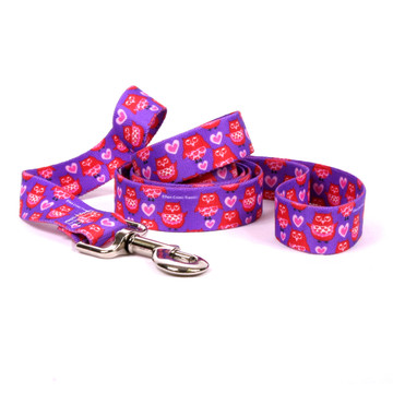 Valentines Owls Dog Leash