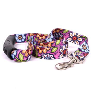 Pink Garden EZ-Grip Dog Leash