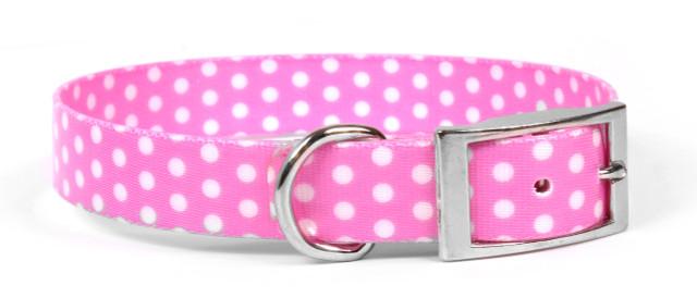 New Pink Polka Dot Elements Dog Collar