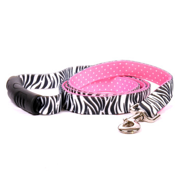 Zebra Black Uptown Dog Leash