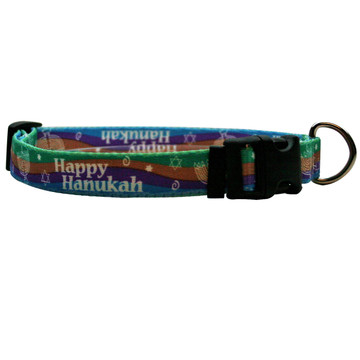 Happy Hanukah Break Away Cat Collar