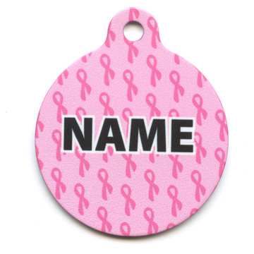 Petite Pink Ribbons HD Pet ID Tag