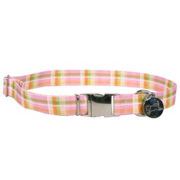 Southern Dawg Madras Pink Premium Dog Collar