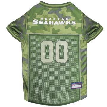 Seattle Seahawks NFL Football Camo Pet Jersey