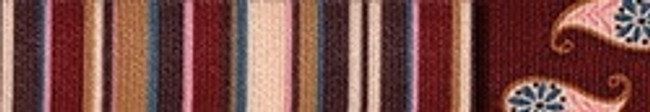 Burgundy Stripes EZ-Grip Dog Leash