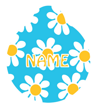 Blue Daisy HD Pet ID Tag