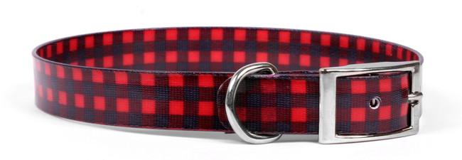 Buffalo Plaid Red Elements Dog Collar
