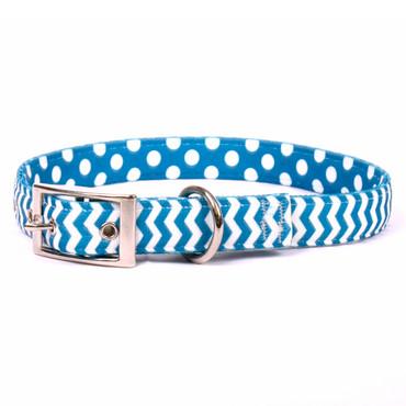 Chevron - Blueberry Uptown Dog Collar