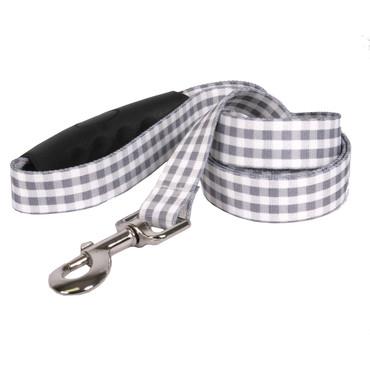 Southern Dawg Gingham Gray Premium Dog Leash