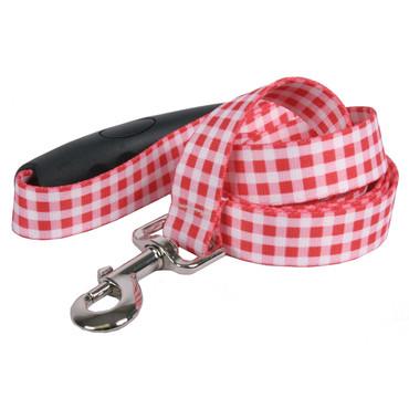 Southern Dawg Gingham Red Premium Dog Leash