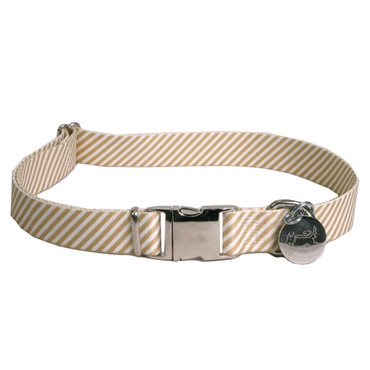 Southern Dawg Seersucker Brown Premium Dog Collar