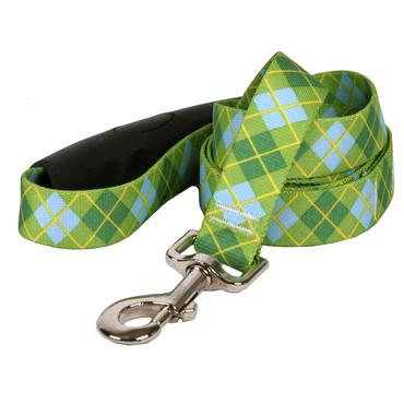 Argyle Green EZ-Grip Dog Leash