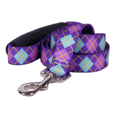 Argyle Purple EZ-Grip Dog Leash